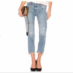 DL1961 Straight Leg Crop Jeans in Riptide